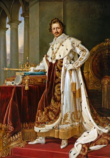 Joseph Karl Stieler - King Ludwig I. of Bavaria in the coronation regalia.