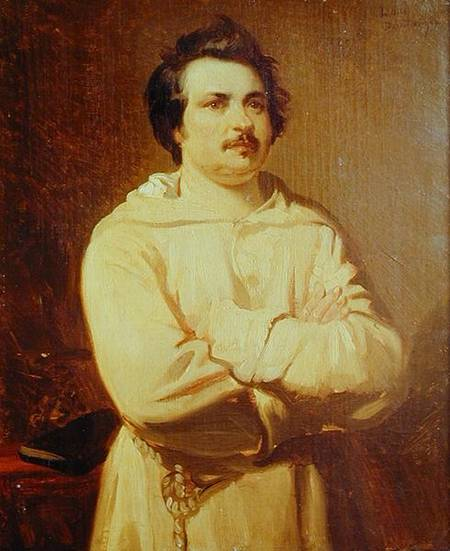 Louis Boulanger - Honore de Balzac (1799-1850) in his Monk's Habit