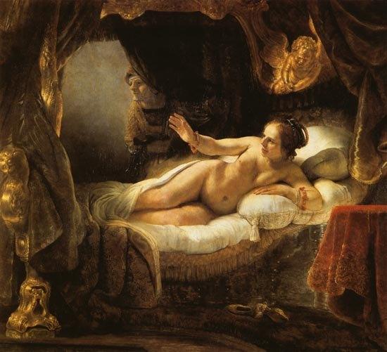 Image result for rembrandt danae