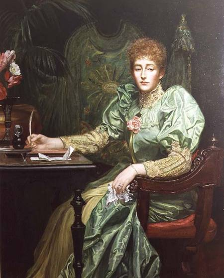 Valentine Cameron Prinsep - Portrait of Frances, Lady Layland-Barratt