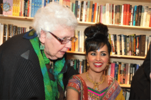 Aida with Gayathri at her book launch in March 2014