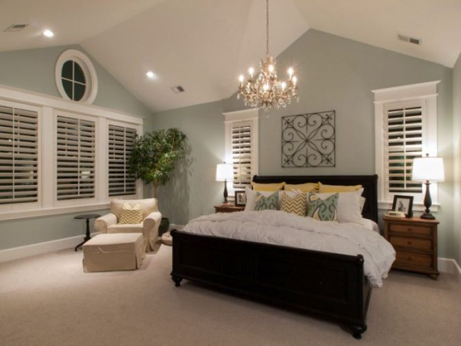 bedroom lighting for vaulted ceilings Bedroom Inspirations – Cathedral Ceiling Bedroom