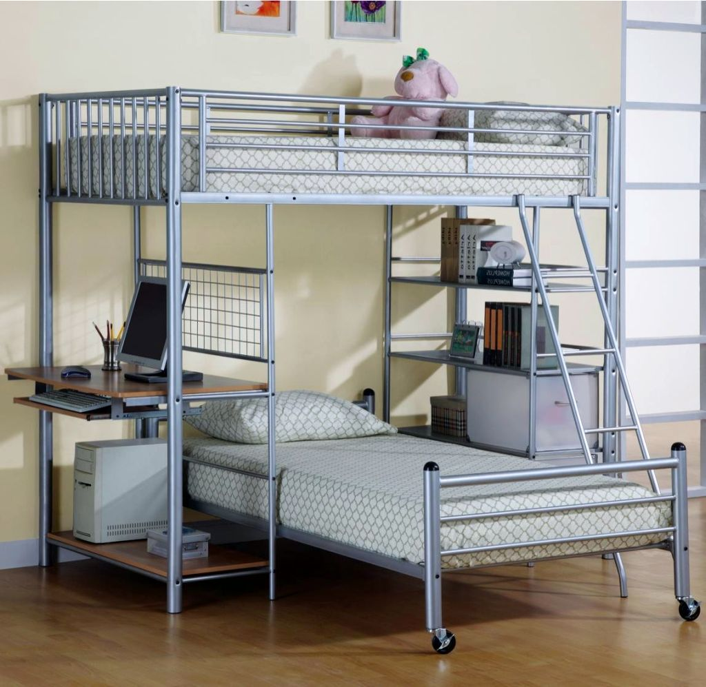 20 Charming Selections Of White Loft Beds With Desk