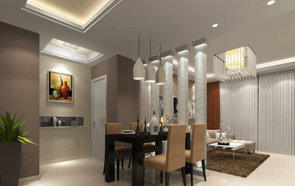 Modern Ceiling Design Ideas For Living Room In Shared Space