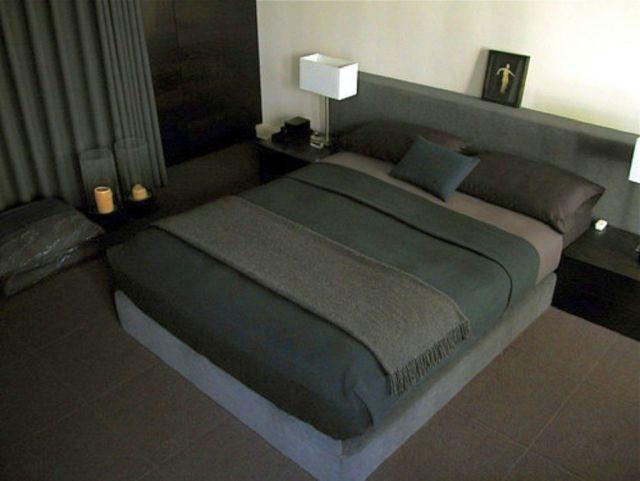 simple minimalist modern mens bedroom