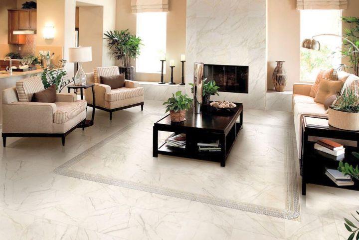 Living Room Tiled Floor Home Design Part 38