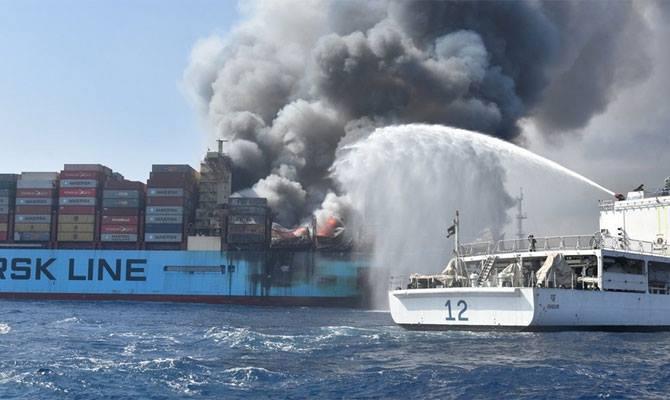 Grave incendio de portacontenedores reporta Maersk Line