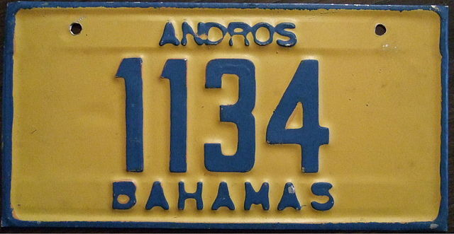 Andros Island License Plate