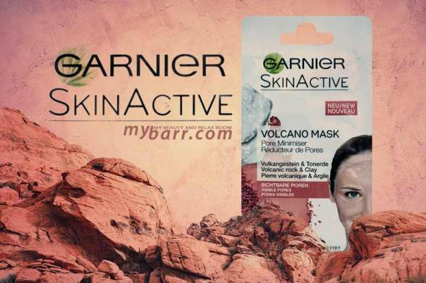 Garnier Skin Active Volcano Mask la maschera viso autoriscaldante con roccia vulcanica e argilla mybarr