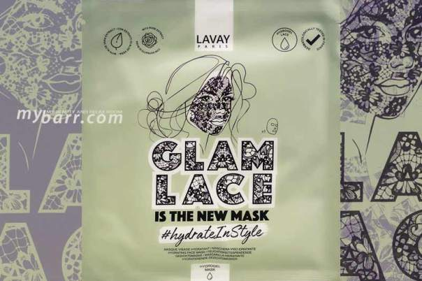 maschera viso idrogel pizzo glam lace idratante lavay paris mybarr