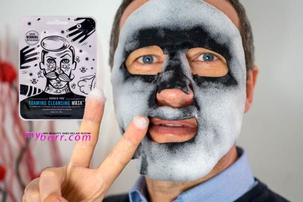 bubble mask foaming cleansing Barber Pro uomo mybarr