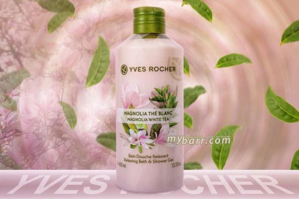 bagno doccia yves rocher rilassante magnolia & tè bianco les plaisirs nature mybarr