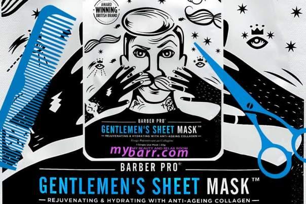 Barber Pro maschera viso gentlemen's rigenerante sheet mask mybarr
