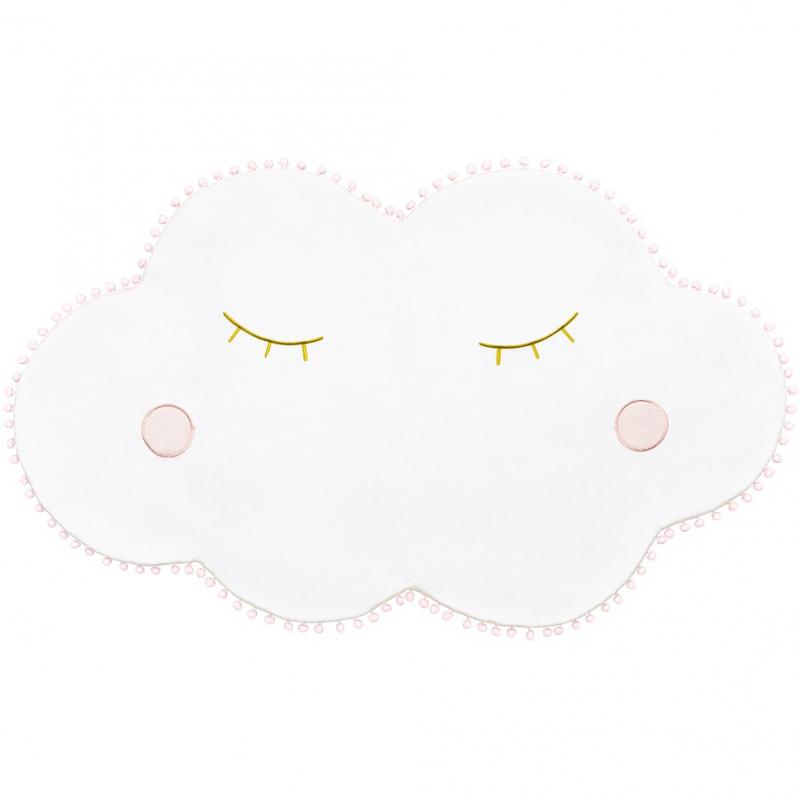 tapis de sol nuage blanc decoration anniversaire enfant