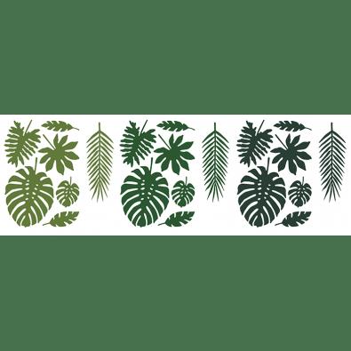 Dcoration Feuilles Exotiques Vertes Flamant Tropiques