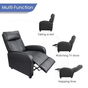 Best recliner for sleeping Homall Single Recliner Chair Padded Seat Black PU
