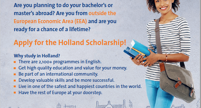 2020/2021 Holland Scholarships To Study Bachelor's Masters in Netherland 2