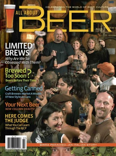 Beer Molly (et al) on the cover of All About Beer (click for larger image)