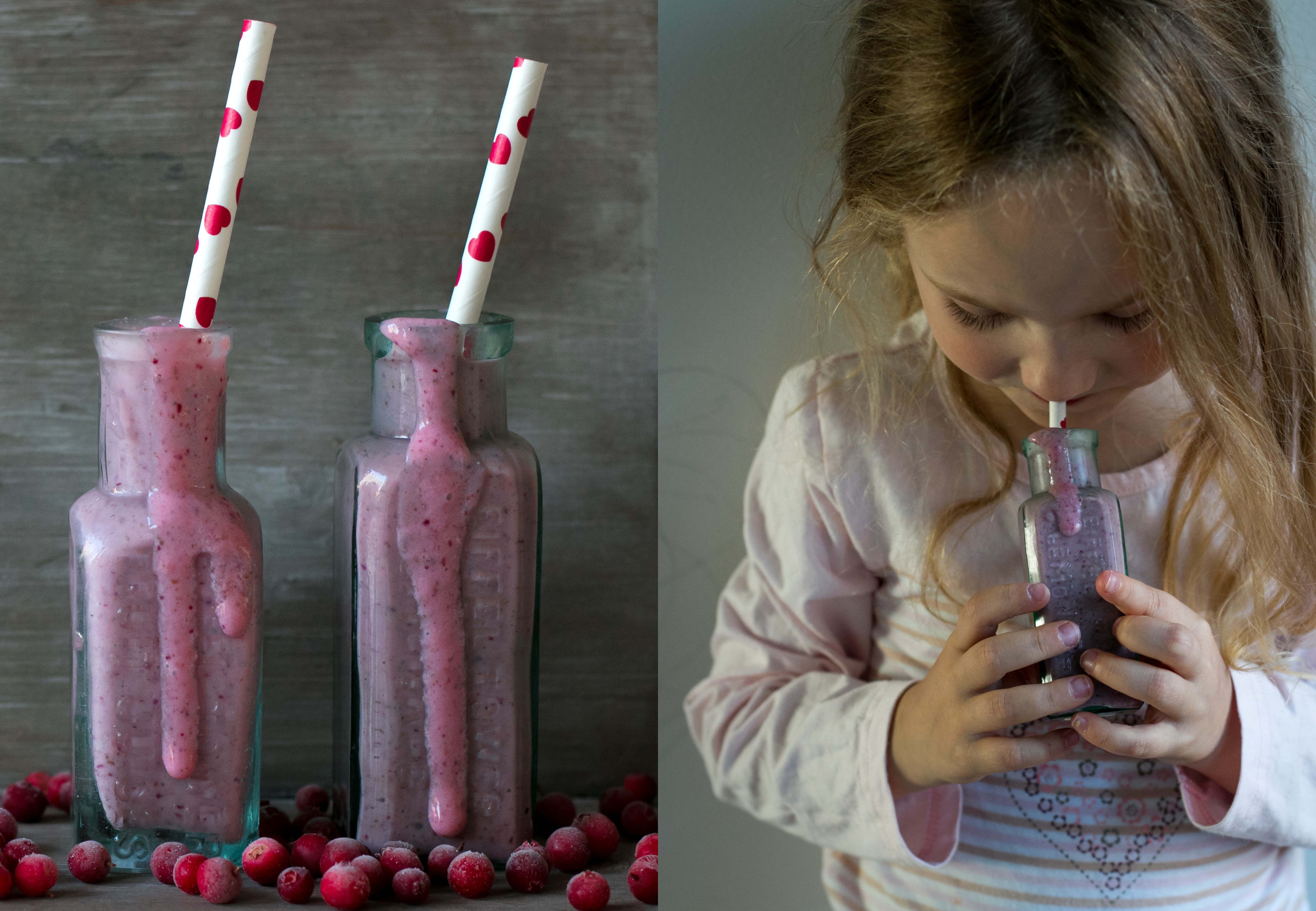 Lingonberry smoothies