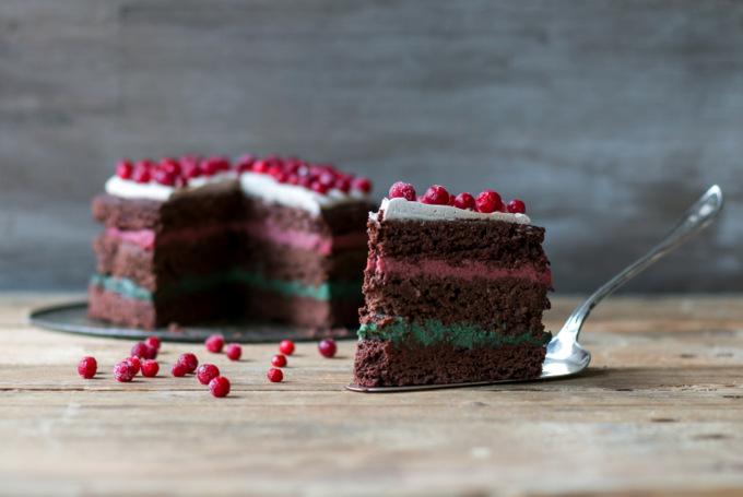 Festive chocolate cake 5