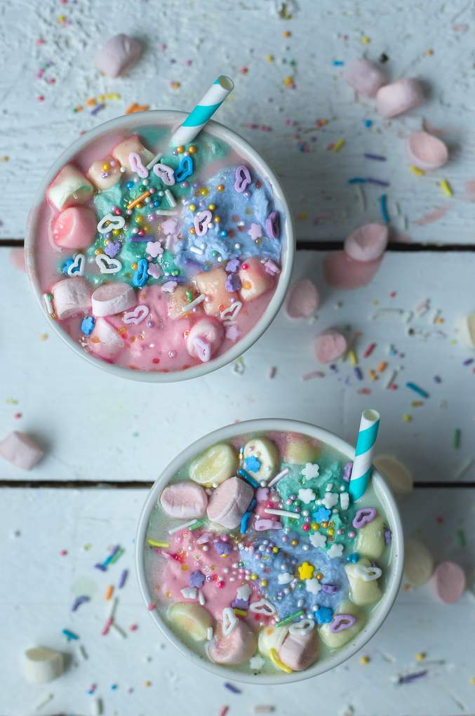 Vegan Unicorn Hot Chocolate. Myberryforest.com