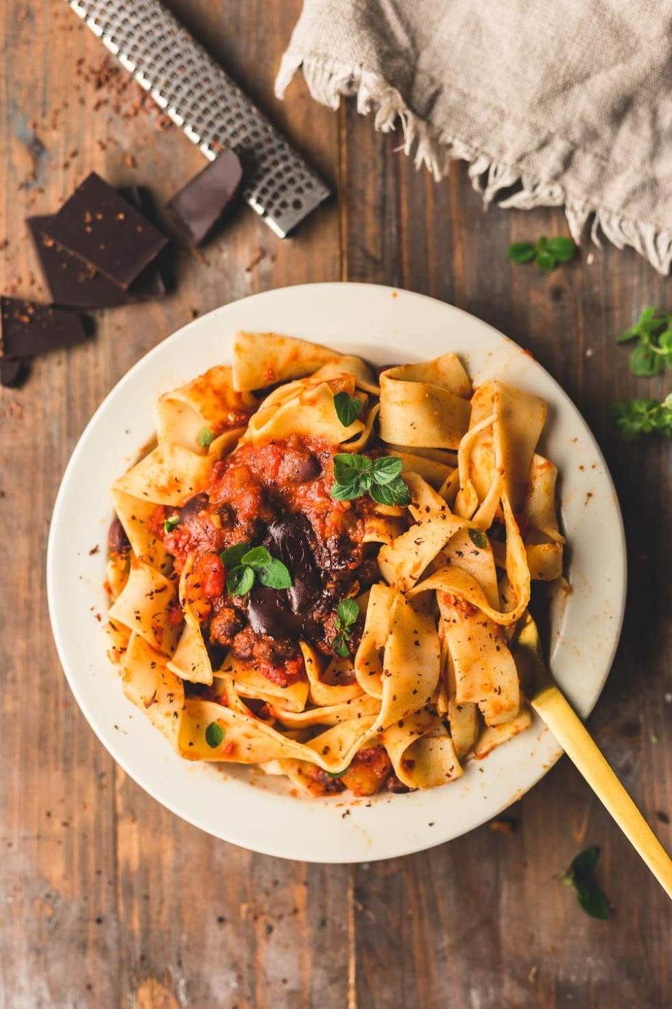 Vegan Black Bean Mole Pasta