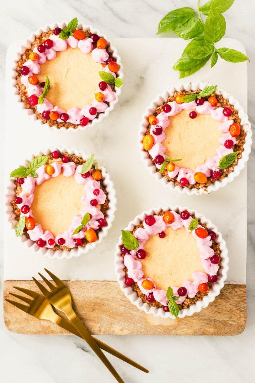 Vegan No-bake Pumpkin Tiramisu Tart