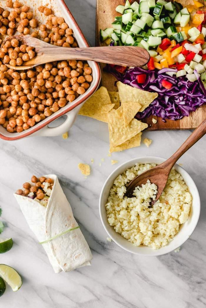 Chickpea and Millet Burritos. Vegan. Myberryforest.com