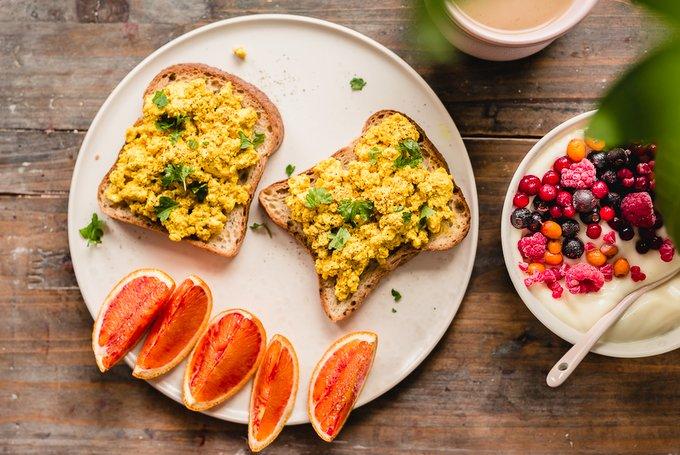 Vegaaninen kaurapala munakokkeli