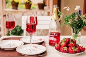 Gluten-free vegan no-bake mini strawberry cupcakes