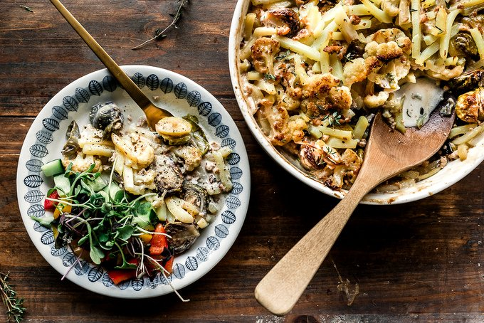 Healthy Brussels sprouts casserole