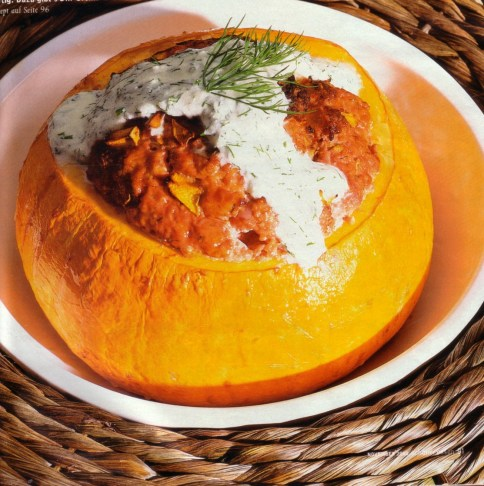 filled pumpkin