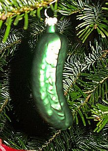 german christmas pickle myth