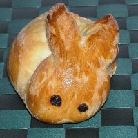 German Sweet Bread Easter Rabbit