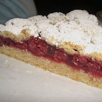 Cherry Crumble Cake - German Streusel Cake