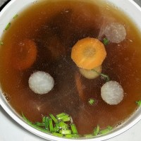Authentic Clear German Oxtail Soup