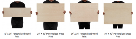 wooden print samples