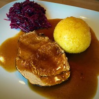 Pork Roast Franconia Style with Dark Beer Gravy