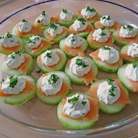 Cucumber Salmon Appetizer - German Party Food