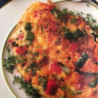 Potato Pepper Omelet - German Egg Pancake Recipe