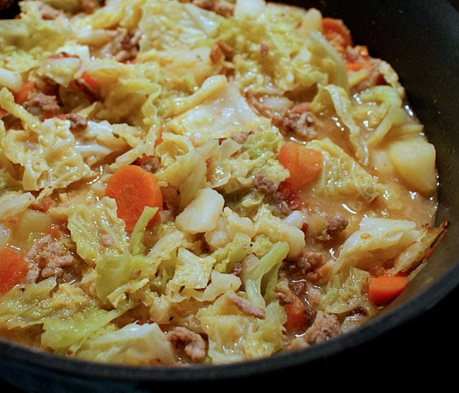 german savoy cabbage stew