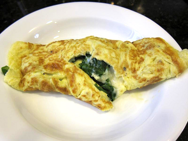 german spinach omelette