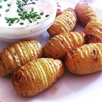 German Oven Potatoes served with Quark