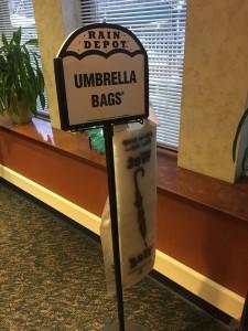 Nudging for umbrellas