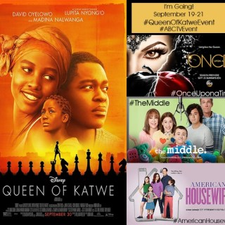 I'm Going to LA for the Queen of Katwe and ABC Television Events. Pinch Me.