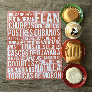 "Cuba poster - Cuban desserts subway art print