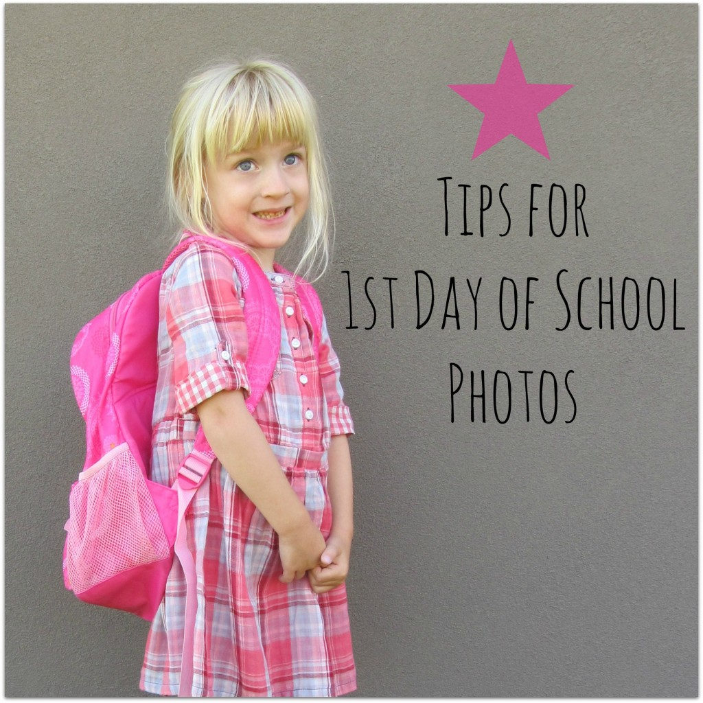 Tips for 1st Day of School Photos #firstdayofschool #phototips | mybigfathappylife.com