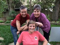 With Pam White and Paula Chambers.
