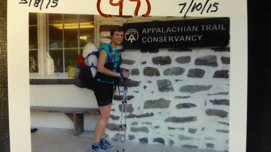 1st flip flop thru hiker in for their second visit. :)