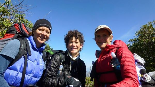 Tray Mountain on the AT — with Lisa Belcher and Martha Johnson.